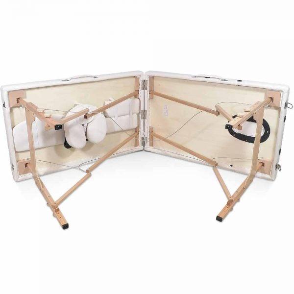 Mobilne łóżko do masażu - podczas rozkładania