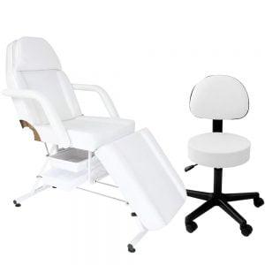 Fotel z kuwetami + Taboret z oparciem
