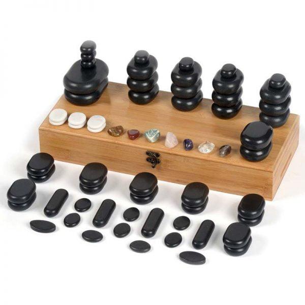 Masaż kamieniami - zestaw z podgrzewaczem