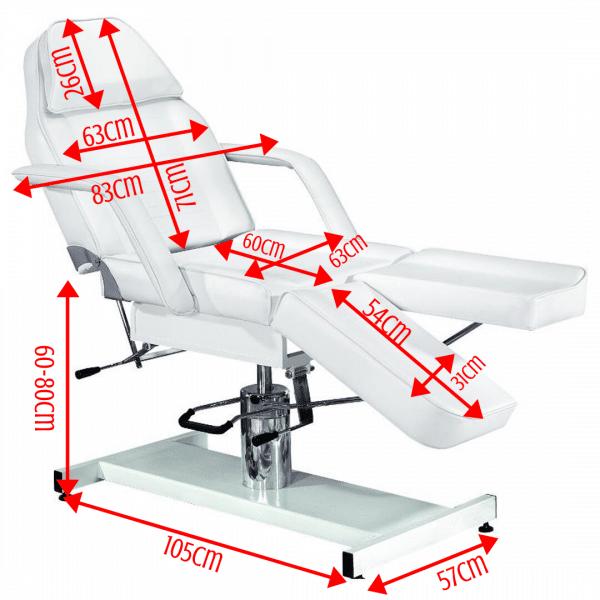 Fotel kosmetyczny hydrauliczny BELLO pedicure
