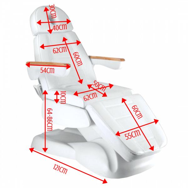 Fotel kosmetyczny elektryczny LUSSO 3