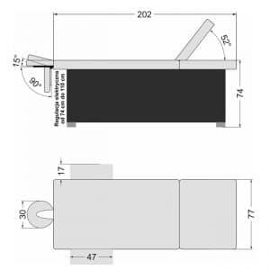 Leżanka kosmetyczna elektr. SPA DIANA  2 HOT