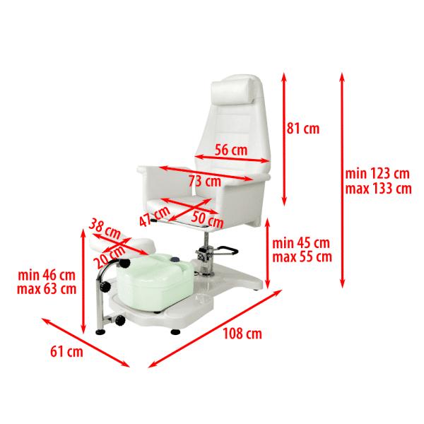Fotel kosmetyczny hydrauliczny RELAX 3 z masażerem