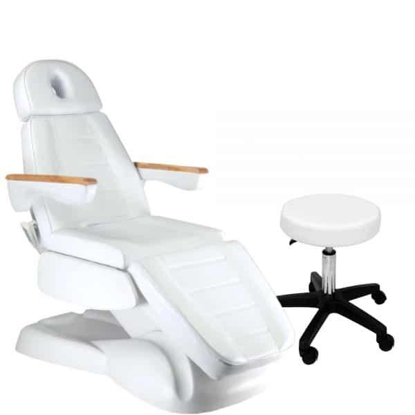 Fotel kosmetyczny elektryczny LUSSO 3 + taboret za 1 zł!