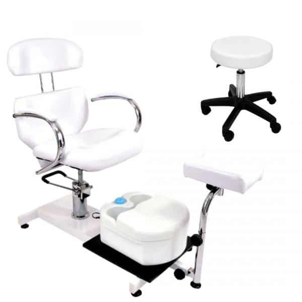 ZESTAW Fotel kosmetyczny hydrauliczny SPA + Masażer + Taboret