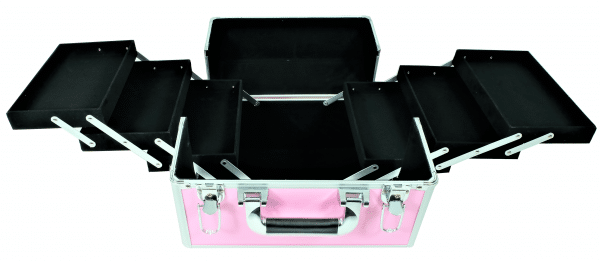 Kuferek mały 6 półek różowy+frezarka JD500 PINK