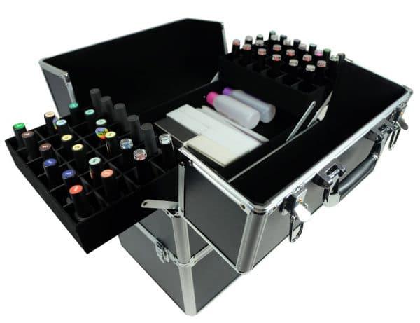 Kuferek czarny duży+lampa UV+frezarka JD500 PINK