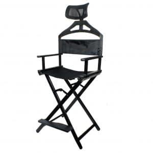 Krzesło do makijażu Make up składane aluminiowe