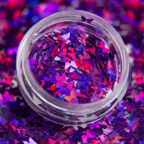Ozdoba do paznokci kolorowe Motylki holo foil nr 5