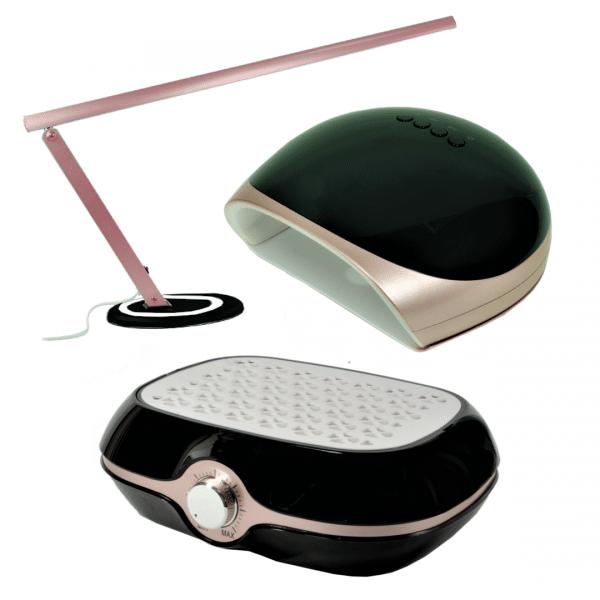 Zestaw lampy do manicure + pochłaniacz bezworkowy