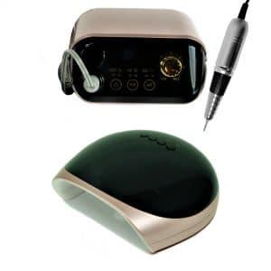 Zestaw do manicure Lampa LUX + Frezarka