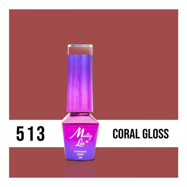 LAKIER MOLLY LAC MISS ICONICCORAL GLOSS 5ml nr 513