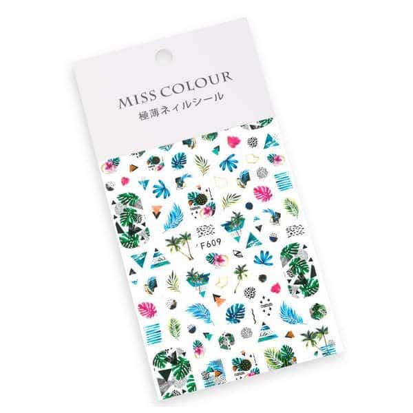 Naklejki do paznokci cienkie samoprzylepne Miss Colour Nr F609